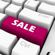 Stock Photo: Sale on keyboard