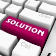 Solution button — Stockfoto