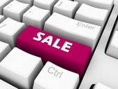 Sale on keyboard — Stock Photo