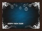 Feliz navidad a bordo azul — Foto de Stock