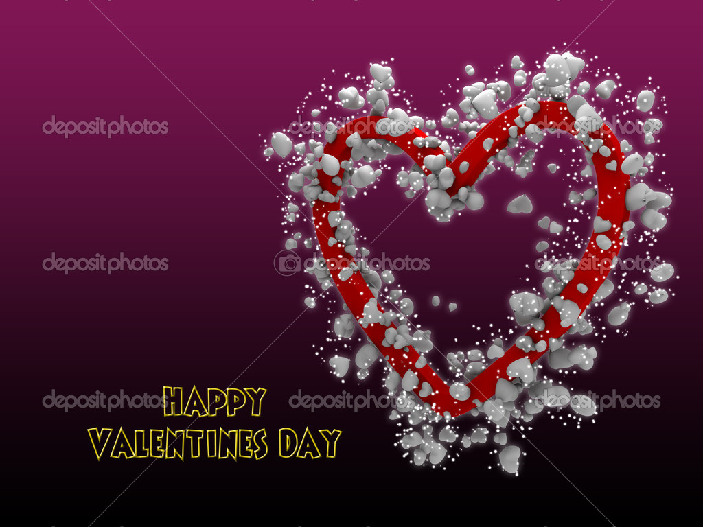 Multiple white heart along with big red heart — Stock Photo #5389859