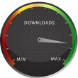 Stock Photo: Speedometer download button