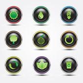Eco glossy button — Stock Photo