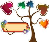 Heart tree — Stock Photo