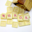 Scrabble words — Stock Photo