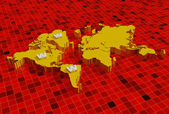 3d world map with www — Foto de Stock