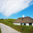 Stock Photo: Old Danish houses - Jutland, Loekken