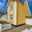 Old Danish houses - Jutland, Loekken — Stock Photo