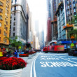 Stock Photo: City life at Manhattan