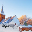 Church in winter — 图库照片