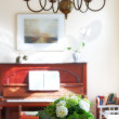 Flowers in the house — Stock Photo