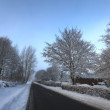 Winter landscape early morning - Stock Photo