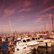 A photo of boats in summertime - Denmark - Stock Photo