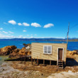 Fisherman house - New Zealand — Stock Photo