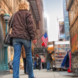 Street life at Manhattan - New York City — Stock Photo