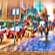 Night Life in Hong Kong - motion blurred illustration — Stock Photo