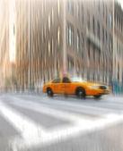 Street taxi life at Manhattan, NYC — Stock Photo