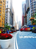 городская жизнь в манхэттене — Стоковое фото