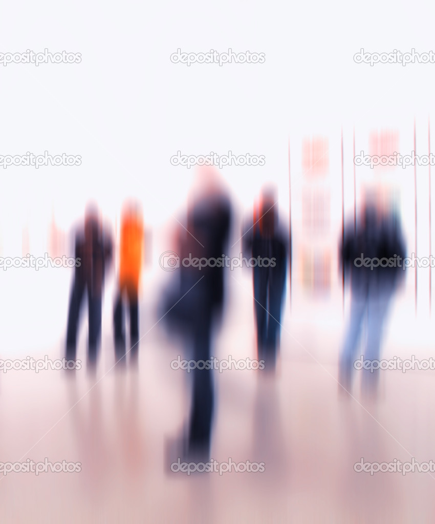 A motion blurred image of at an exhibition — Stock Photo #6537791