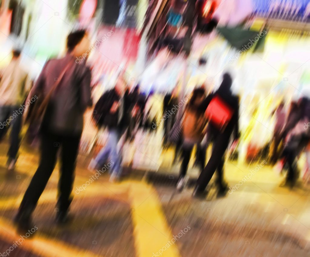 A motion blurred illustrative image of city life — Stock Photo #6537947