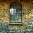 Old window in old Danish farmhouse — Stock Photo #6543036