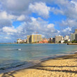 Waikiki Beach - Honolulu, Oahu, Hawaii - Stock Photo
