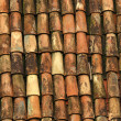 Stock Photo: Old red roof tiles from spain