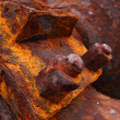 Rusty-colored iron — Stock Photo