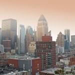 grattacieli - a manhattan, new york, un mattino — Foto Stock