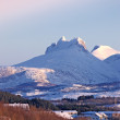 Photo of mountains North of the Polar Circle — Stock Photo