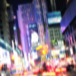 Evening life at Manhattan, New York, in motion blurr and strange colors. Lo — Stock Photo