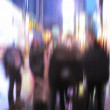 Motion blurred - walking at Times Square, New York — Stock Photo