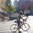 Biking in New York - Stock Photo