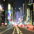 Evening life at Manhattan, New York, in motion blurr and strange colors. Lo - Stock fotografie