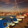 :A photo of boats in summertime - Stock Photo