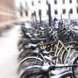 Lens blurred bikes - Stock Photo