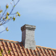 Stock Photo: Sharp and detailed photo of chimney of family house