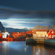 Harbor houses in Svovlvaer, Lofoten, Norway — Stock Photo #6546715