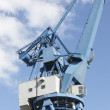 Stock Photo: Telephoto of harbor crane