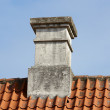 Stock Photo: Old chimney on private home