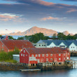 Harbor houses in Svovlvaer, Lofoten, Norway — Stock Photo #6546781