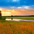 A photo of the countryside late afternoon — Stock Photo