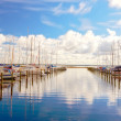 Boats in harbor - Stock Photo