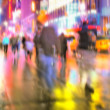 Manhattan life - motion blurred — Stock Photo