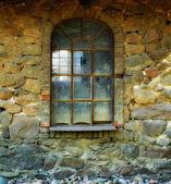 Old window in old Danish farmhouse — Foto Stock