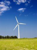 A photo of modern windmills in Denmark — Stock Photo