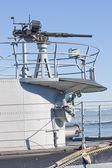 Machine gun on warship — Stock Photo