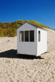 Small beach huts - Denmark — Stock Photo