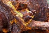 Rusty-colored iron — Stock Photo