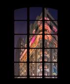 Manhattan outside my window - night shoot — Stock Photo